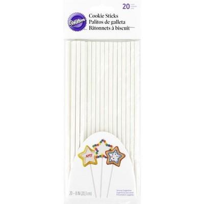 Wilton Paper Cookie Sticks 20cm -Χάρτινα ραβδάκια για μπισκότα 20εκ (20 τμχ)
