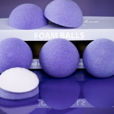 Purple Cupcakes Foam Halves for Domed Cupcakes -Μπάλες Αφρολέξ για Κάπκεϊκς με Θόλο 6 τεμ