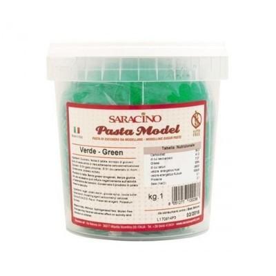 SALE!!! Saracino -Green Πάστα μοντελισμού 1 κιλό Πράσινο ΗΜΕΡΟΜΗΝΙΑ 02/18