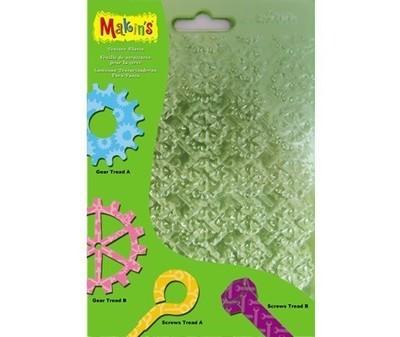 SALE!!! Makins - Texture & Embossing Set F - Ανάγλυφα Φύλλα Καλουπιών Ζ - 4τεμ - 16x12εκ