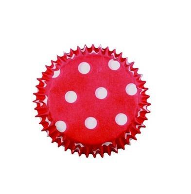PME Cupcake Cases -MINI RED POLKA DOT -Κόκκινες Πουά Μίνι Θήκες Ψησίματος 100τεμ