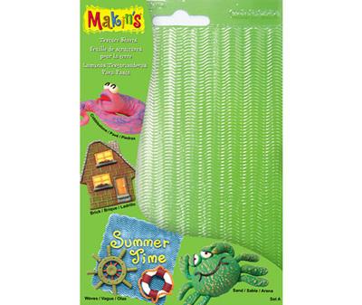 SALE!!! Makins - Texture & Embossing Set A - Ανάγλυφα Φύλλα Καλουπιών - 4τεμ - 16x12εκ