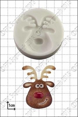 FPC Silicone Mould -REINDEER HEAD -Καλούπι Κεφάλι Τάρανδου