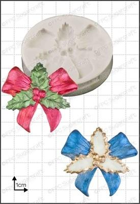 FPC - Holly Bow Silicone Mould - Καλούπι Γιορτινός Φιόγκος