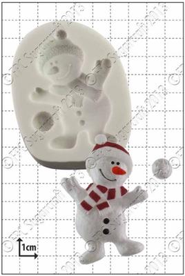 FPC - Dancing Snowman Mould - Καλούπι Χιονάνθρωπος που Χορεύει