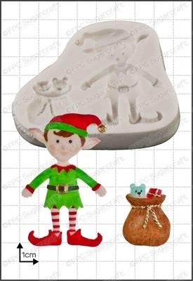 FPC Silicone Mould -XMAS ELF -Καλούπι Χριστουγεννιάτικο Ξωτικό
