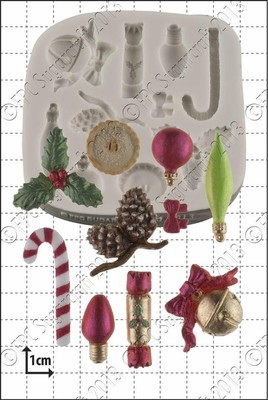 FPC Silicone Mould -CHRISTMAS MINI DECORATIONS Καλούπι Μικρά Χριστουγεννιάτικα Στολίδια