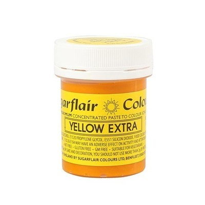 Sugarflair EXTRA Strong Paste Colours -Yellow 42g -Χρώμα Πάστα ΕΞΤΡΑ Δυνατό 42γρ. -Κίτρινο
