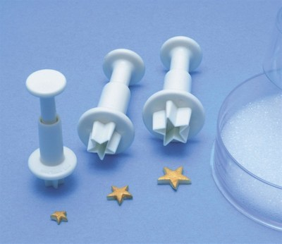 PME Plunger Cutters -Set of 3 -STARS -Κουπάτ με Εκβολέα Αστέρι 3 τεμ
