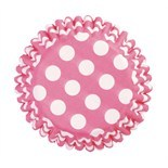 Cake Star Cupcake Cases -POLKA DOTS -CERISE -Θήκες Ψησίματος -Κερασί Πουά 54 τεμ
