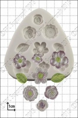 FPC Silicone Mould -FLOWER DECORATIONS -Καλούπι Διακοσμητικά Λουλουδάκια