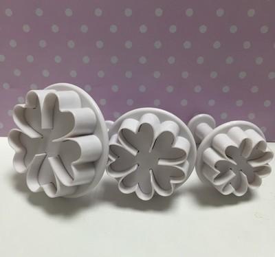 Culpitt - Plunger Cutters Flowers - Κουπάτ με Εκβολέα - Λουλούδια - 3τεμ/πακέτο - 55 έως 70χιλ