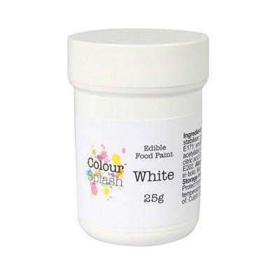 Colour Splash Edible PAINT -MATT WHITE -Βρώσιμο Χρώμα Ζωγραφικής -Λευκό Ματ 25γρ