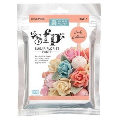 Squires Kitchen -Flower Paste -CANDY PEACH -Πάστα Λουλουδιών 200γρ -Καραμελέ Ροδακινί