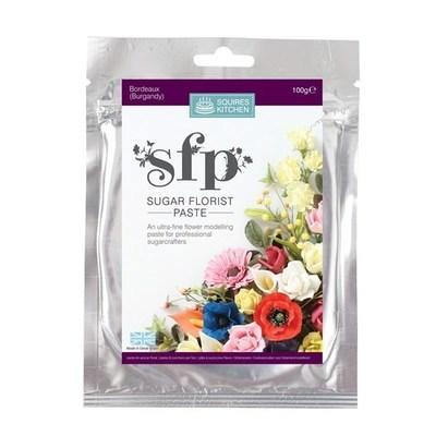 Squires Kitchen -Flower Paste BORDEAUX (Burgundy)-Πάστα Λουλουδιών 100γρ μπορντό