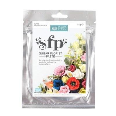 Squires Kitchen Flower Paste -OPAQUE WHITE -Πάστα Λουλουδιών 200γρ -Μη Διάφανο Λευκό