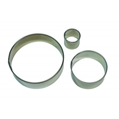 PME Basics -Set of 3 -ROUND/CIRCLE Cutters -Βασική Σειρά Κουπάτ Στρογγυλά/Κύκλοι 3 τεμ