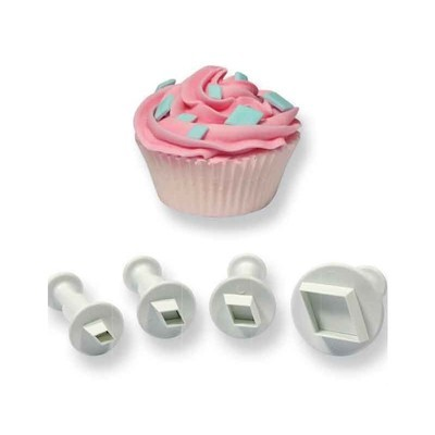 PME Plunger Cutters -Set of 4 -DIAMONDS -Κουπάτ με Εκβολέα Ρόμβος 4 τεμ