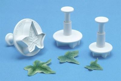 PME Plunger Cutters -Set of 3 -IVY LEAF -Κουπάτ με Εκβολέα Ανάγλυφο Φύλλο Κισσού 3 τεμ