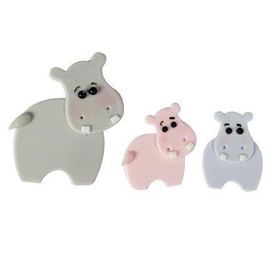 FMM Cutters -Mummy & Baby HIPPOS -Κουπάτ Ιπποπόταμος Μαμά και Παιδάκι 3 τεμ