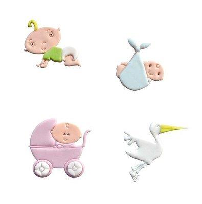 FMM Tappit Cutter Set -ADORABLE BABY -Κουπάτ Γλυκό Μωράκι 4 τεμ