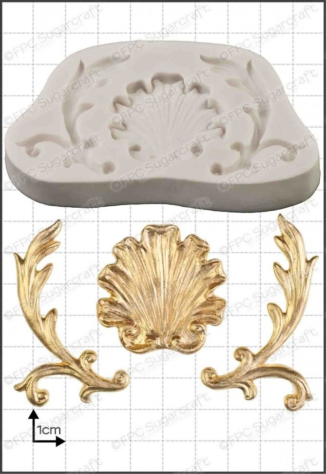 By FPC -Silicone Mould -BAROQUE SHELL -Καλούπι Μπαρόκ Κοχύλι