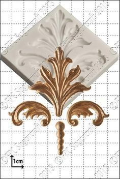 By FPC -Silicone Mould -DAMASK SCROLLS -Καλούπι Damask