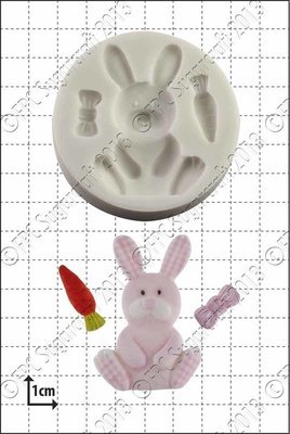 By FPC -Silicone Mould -NURSERY BUNNY -Καλούπι Παιδικό Κουνελάκι