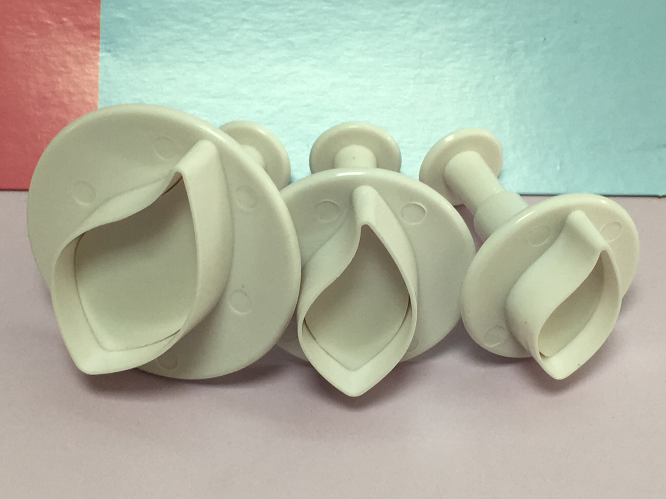 SALE!!! Cake Star Plunger Cutters Curved Leaf set of 3 -Κουπάντ Κυρτό Φύλλο με Εκβολέα -3 τεμ.