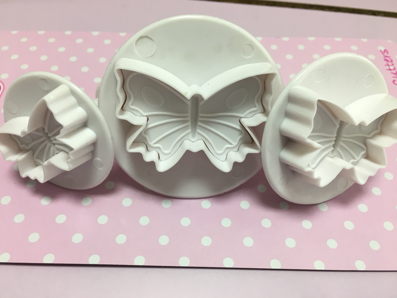 Cake Star Plunger Cutters -Butterfly -Set of 3 -Kουπάντ Πεταλούδες με Eκβολέα -3 Τεμ.