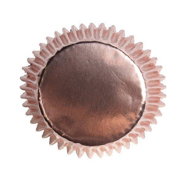 Culpitt Cupcake Cases -METALLIC ROSE GOLD -Αλουμινένιες Θήκες Ψησίματος -Μεταλλικό Ροζ Χρυσό 45 τεμ