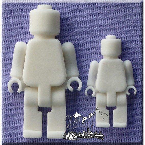 Alphabet Moulds -LEGO BRICK MEN -Καλούπι Ανθρωπάκια Lego