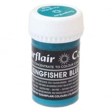 Sugarflair Paste Colours -KINGFISHER BLUE -Χρώμα Πάστα -Μπλε Αλκυόνας