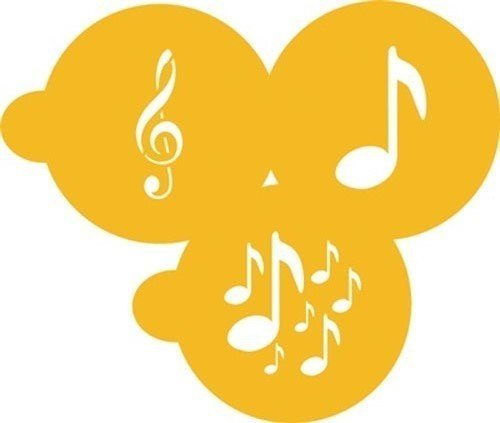 SALE!!! Designer Stencils - Musical Notes - Στένσιλ Μουσικές Νότες - Περίπου 2.5εκ