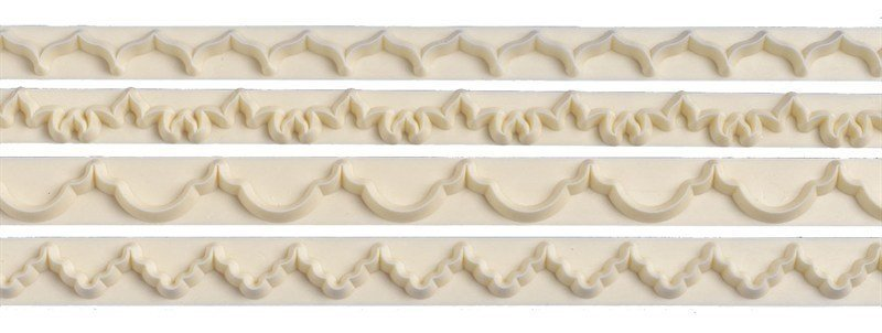 FMM Frill Cutters Set No.1-4 -Κουπάτ Γιρλάντες 4 τεμ