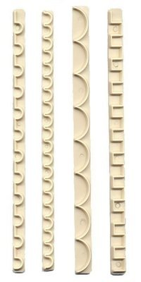 FMM Frill Cutters Set No.9-12 -Κουπάτ Γιρλάντες 4 τεμ