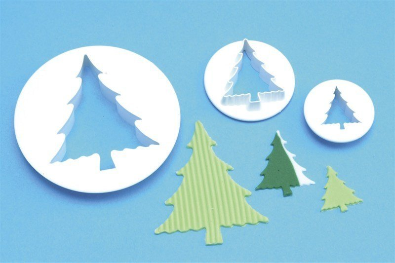 PME Cutters -Set of 3 -TREES -Κουπάτ Δέντρα/Έλατα 3 τεμ