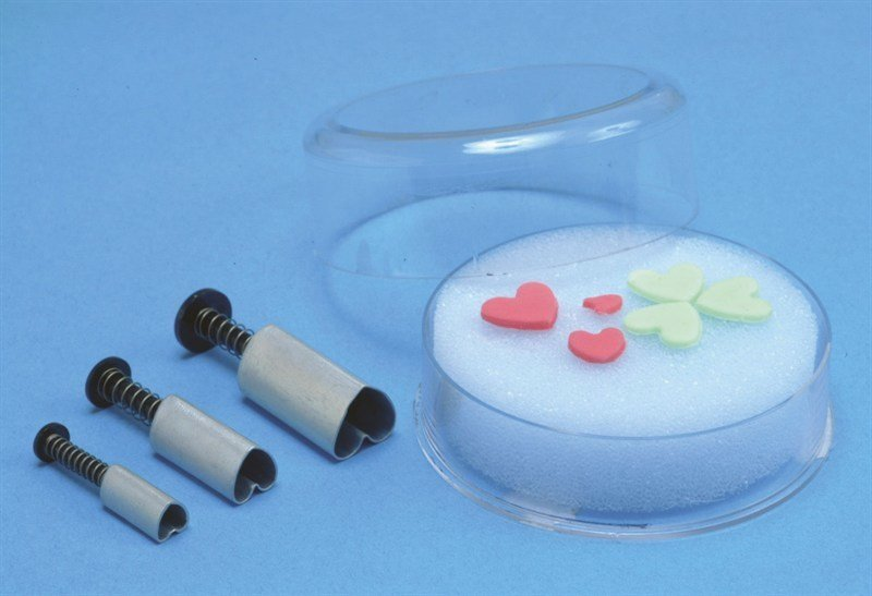 PME Plunger Cutters -Set of 3 -HEARTS -Κουπάτ με Εκβολέα Καρδιά 3 τεμ