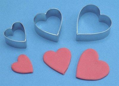 PME Geometric Cutters -Set of 3 -ARUM LILY (HEART)-Κουπάτ Καρδιά/Κρίνος 3 τεμ