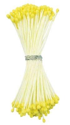Culpitt -Stamens Yellow Medium - Στήμονες Μεσαίες Διπλής Όψης για Λουλούδια - Ματ Κίτρινο - 72τεμ/πακέτο
