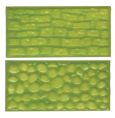 FMM Impression Mats -COBBLESTONE & STONE -Ανάγλυφες Επιφάνειες Πλακόστρωτο & Πέτρα 2 τεμ