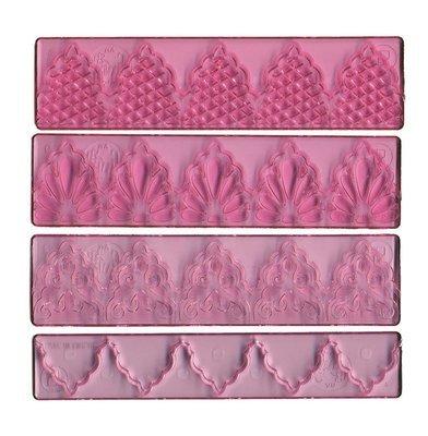 FMM 4 Piece Textured Lace Set No.1 -Σετ Σχεδίων Δαντέλες 4 τεμ