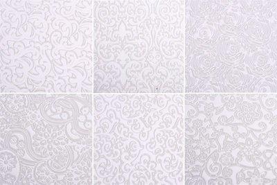Autumn Carpenter Texture Sheet -6 FLORAL DESIGNS -Ανάγλυφα Λουλουδένια Φύλλα 6 τεμ