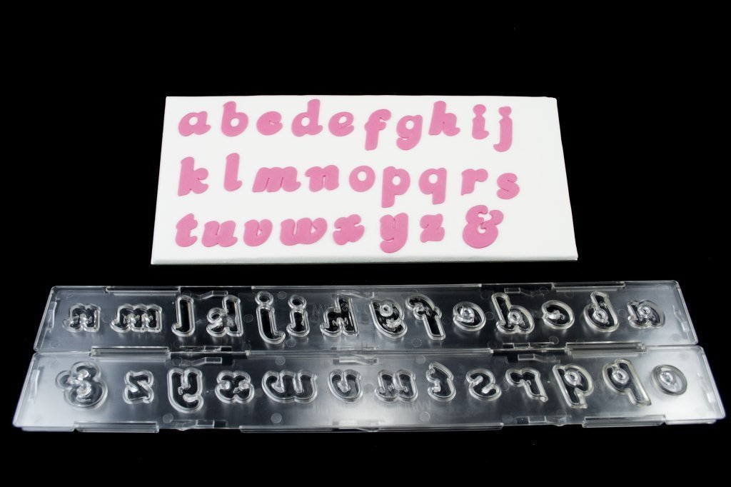 """SALE!!! Clikstix - """"Candy"""" Plunger Cutter Lowercase Letters 17mm - Κουπάτ με Eκβολέα Μικρά Γράμματα """"Candy"""" - 17χιλ"""