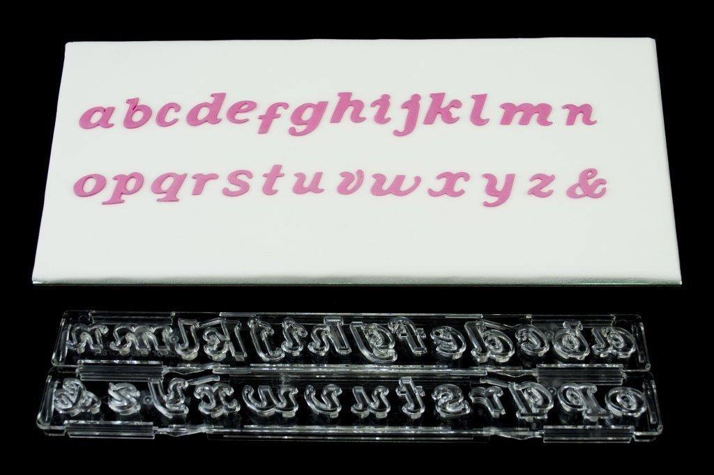 "Clikstix Plunger Cutter -""SCRIPT"" -LOWERCASE -Κουπάτ με Eκβολέα Μικρά Γράμματα ""Script"""