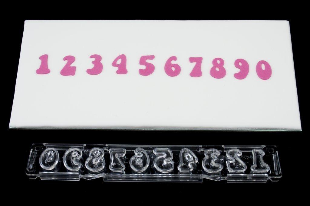 "Clikstix - ""Groovy"" Plunger Cutter Numbers 17mm - Κουπάτ με Εκβολέα Αριθμοί ""Groovy"" - 17χιλ"