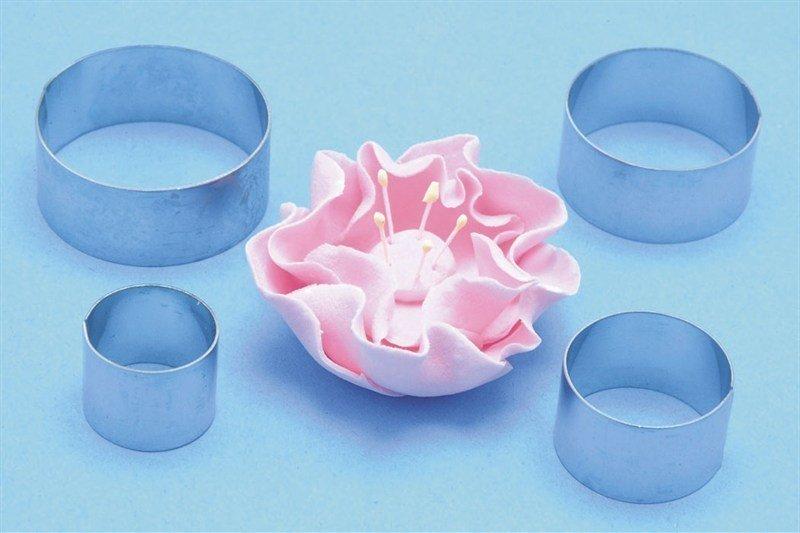 """PME Set of 4 Circle Cutters (Briar Rose)-Σετ 4 Κουπάντ """"Κύκλοι"""""""