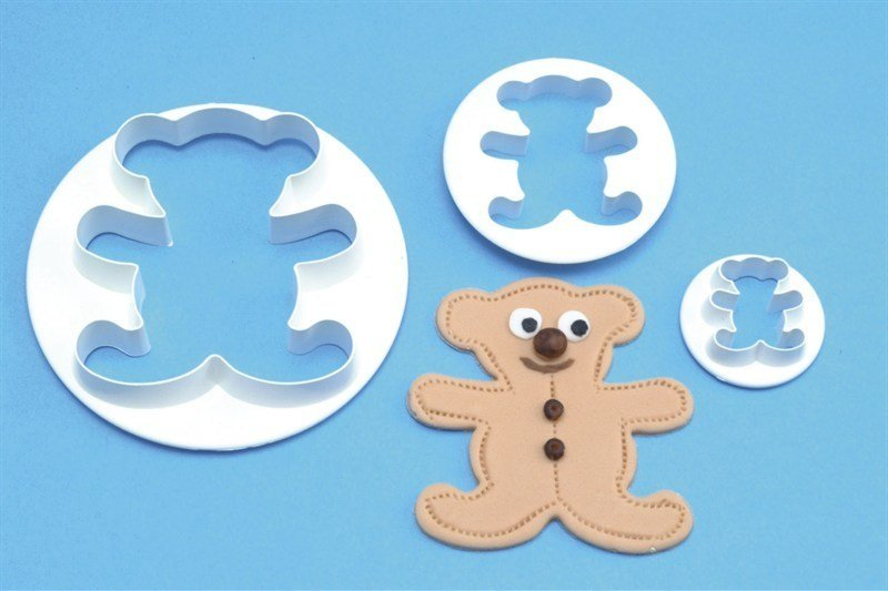 PME Cutters -Set of 3 -TEDDY BEARS -Κουπάτ Αρκουδάκια 3 τεμ