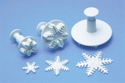 PME Plunger Cutters -Set of 3 -SNOWFLAKES -Κουπάτ με Εκβολέα Χιονονιφάδα 3 τεμ