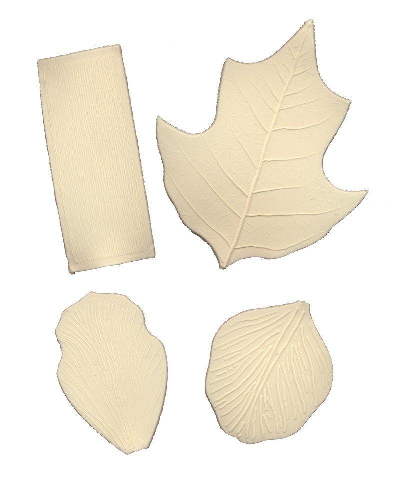 FMM - Veining Mats White - Ανάγλυφα Πατάκια Φύλλων - 4τεμ/πακέτο - 65 έως 105χιλ